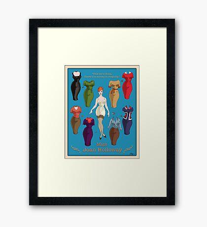 Miss Joan Framed Print
