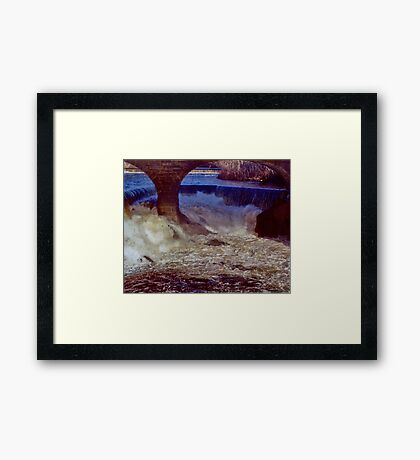 Main Street Dam on the Blackstone Framed Print