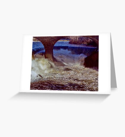 Main Street Dam on the Blackstone Greeting Card