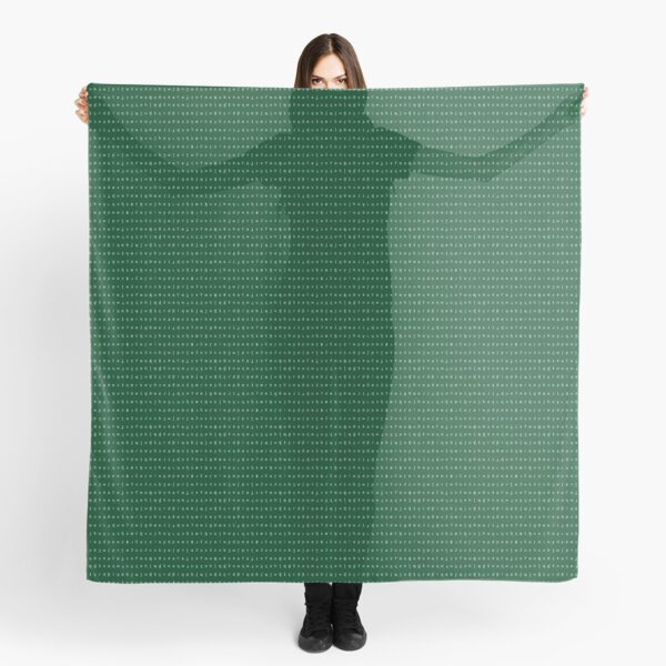 IPA scarf - forest green and white Scarf