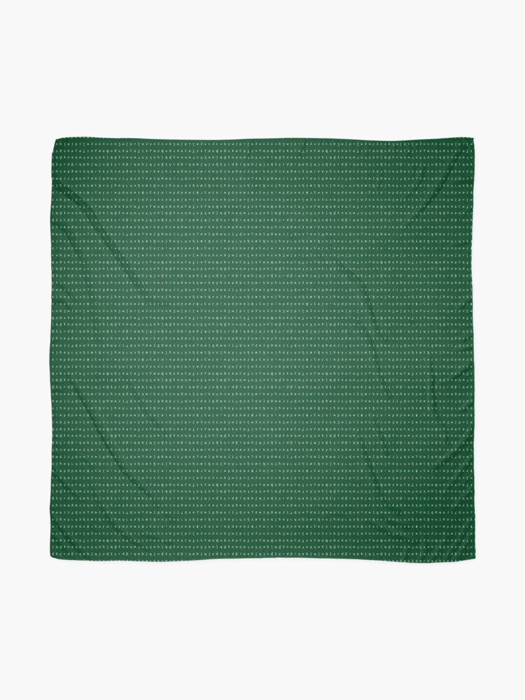 Alternate view of IPA scarf - forest green and white Scarf