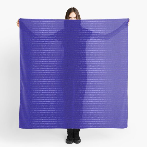 IPA scarf - royal blue and white Scarf