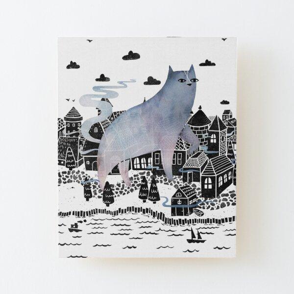 The Fog Wood Mounted Print