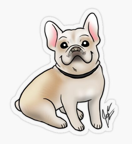French Bulldog Transparent Sticker