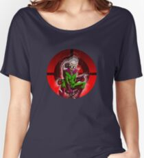 Professor Mad Brainer in her Insane Brain Cockpit  Women's Relaxed Fit T-Shirt