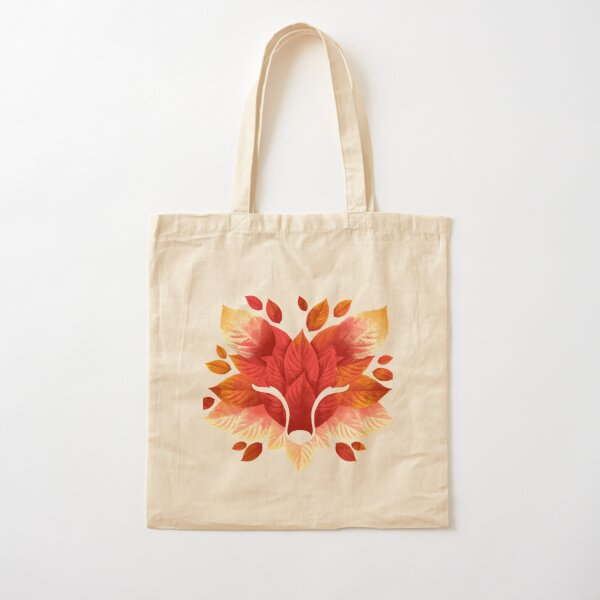 Fox of leaves Cotton Tote Bag