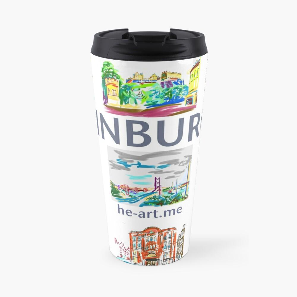 Edinburgh in a panel of 9 at full colour  Travel Mug