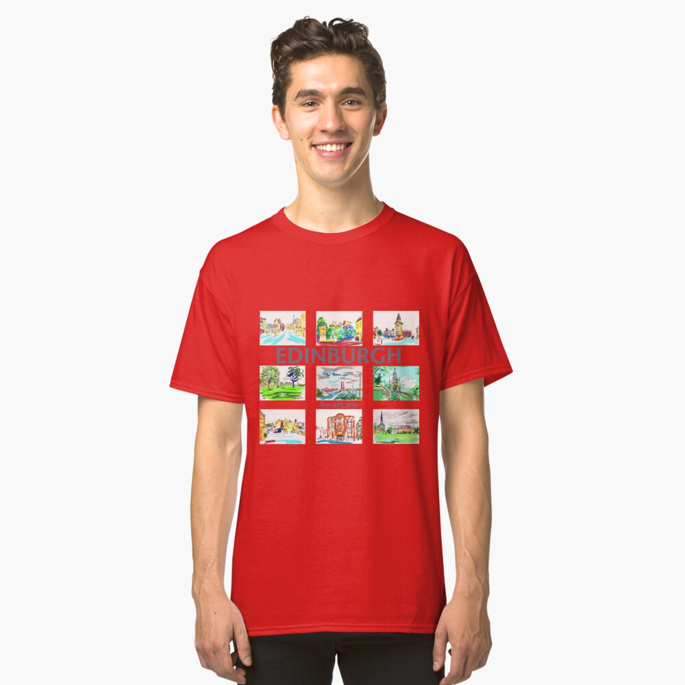 Edinburgh in a panel of 9 at full colour  Classic T-Shirt