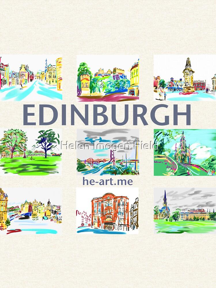 Edinburgh in a panel of 9 at full colour  by imogenart