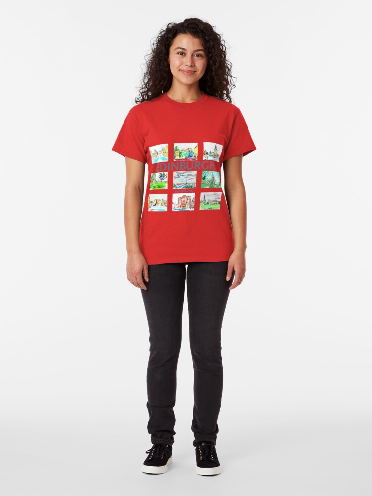 Alternate view of Edinburgh in a panel of 9 at full colour  Classic T-Shirt