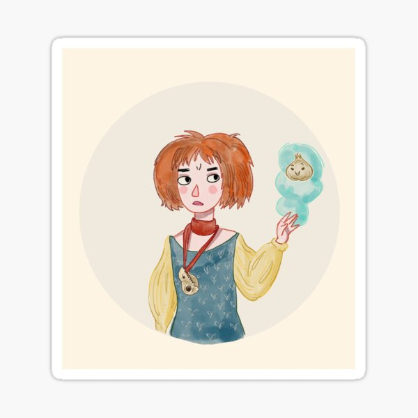 A Witch and her Magical Onion Sticker