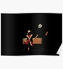 Couple on a park bench at night (stage performance)  Poster