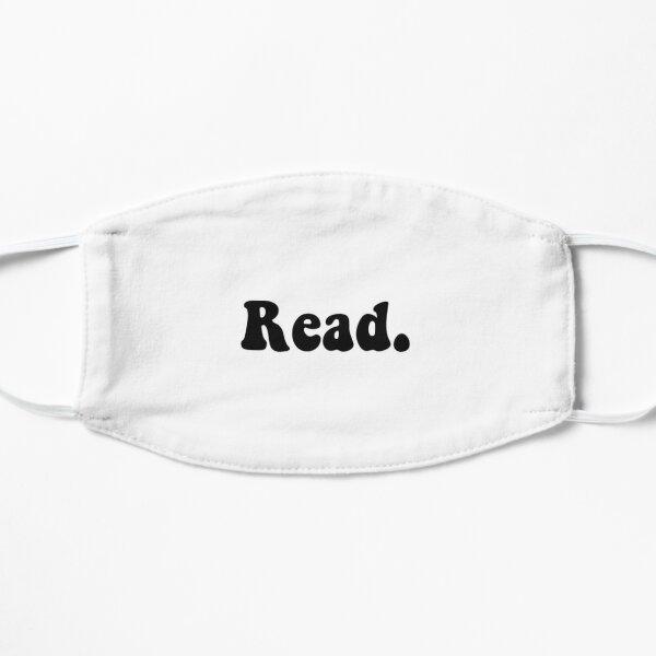 Read groovy black Flat Mask