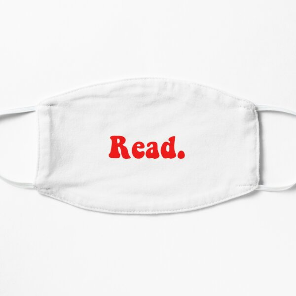 Read groovy red Flat Mask