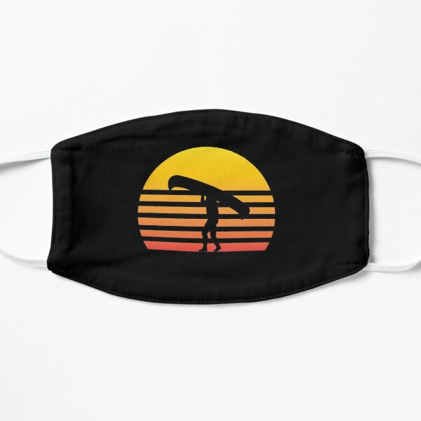 Retro Sunset Canoeing Gift Kayak Paddling Lover Mask