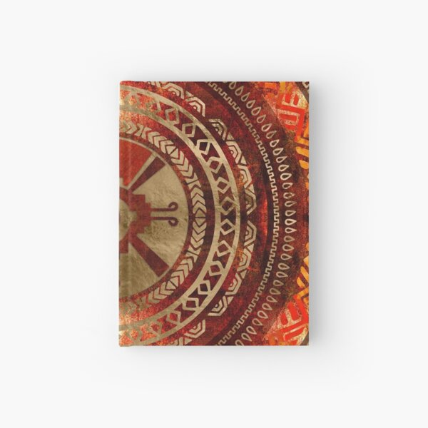 Hunab Ku Mayasymbol Gebrannte Orange und Gold Notizbuch