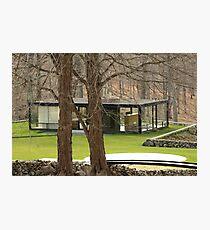 Mid Century Modern - Glass House Photographic Print