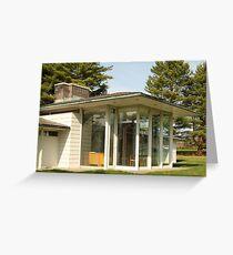 Mid Century Modern - Irwin Pool House Greeting Card