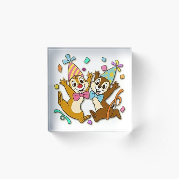 Chip n Dale Happy Acrylic Block