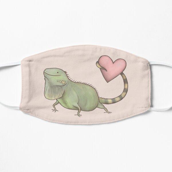 Iguana Love You Flat Mask