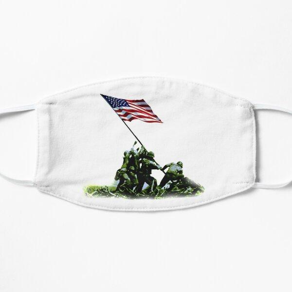 American War Flag. USA, Raising the Colours, Iwo Jima, America, Americana, WW2, WWII. Mask