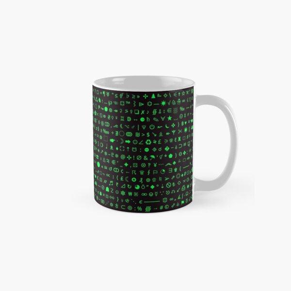 Esoteric symbols mug - Unicode special characters - green/terminal Classic Mug