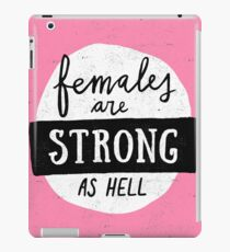 Females Are Strong As Hell | Pink iPad Case/Skin