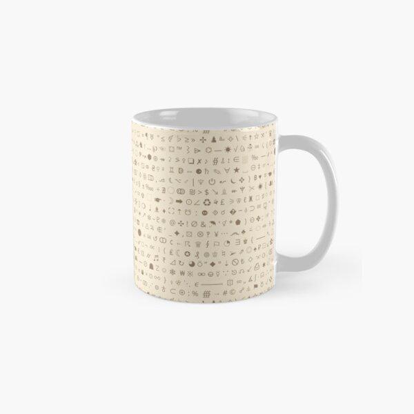 Esoteric symbols mug - Unicode special characters - brown/parchment Classic Mug