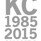 KC Royals 2015 Champions LARGE GRAY FONT by johnnabrynn