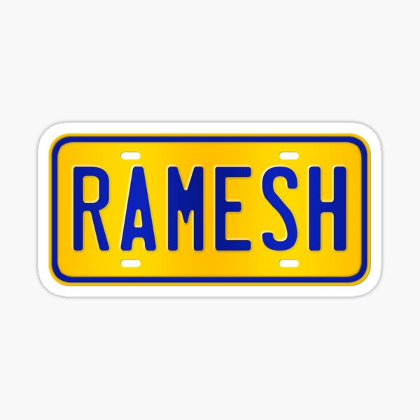 Ramesh Name -  Ramesh Name Custom Number Plate Gift For Family Ramesh Name Sticker