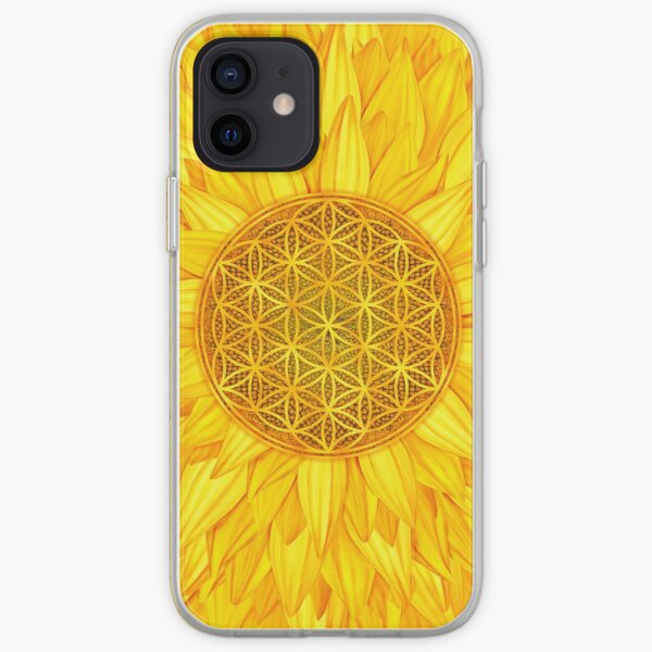 Flower of Life -Sunflower #3 iPhone Soft Case