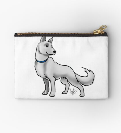 German Shepherd White Studio Pouch