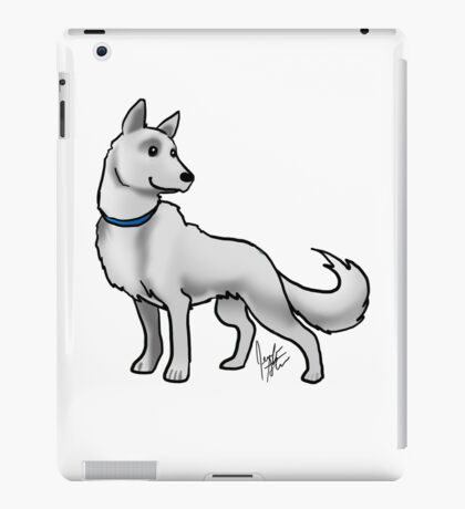 German Shepherd White iPad Case/Skin