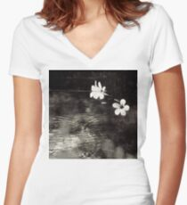 Vietnam ~ Blossoms Women's Fitted V-Neck T-Shirt