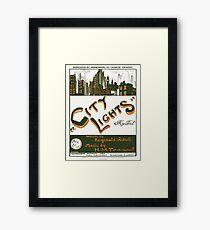 CITY LIGHTS (vintage illustration) Framed Print