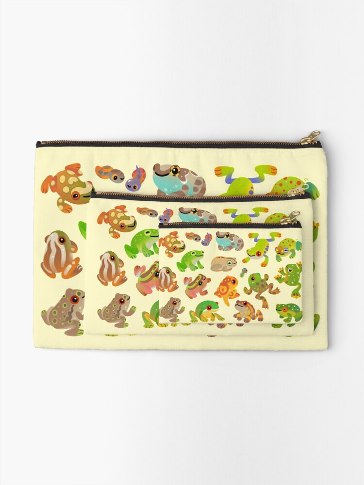 Alternate view of Tree frog Zipper Pouch