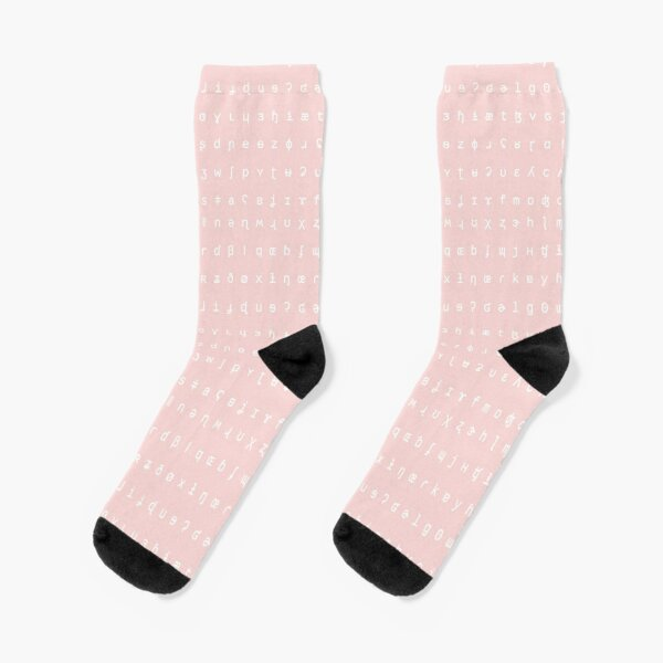 IPA socks - pink and white Socks