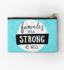 Females Are Strong As Hell | Blue Studio Pouch