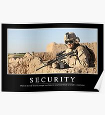 Security: Inspirational Quote and Motivational Poster Poster