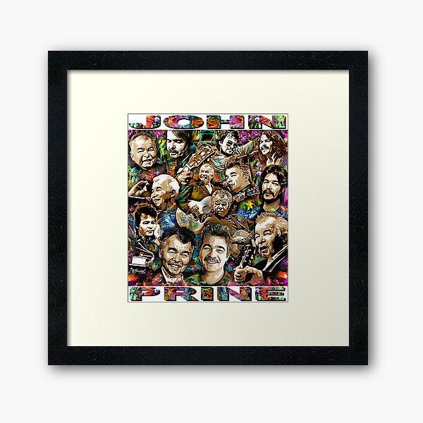 John Prine Through The Decades  - Country Music Singer / Folk Music Singer Framed Art Print
