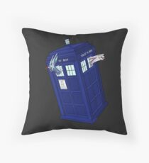 Palkia and Dialga: TARDIS Adventures! Throw Pillow