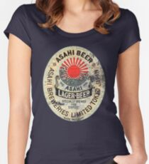 japanese beer Women's Fitted Scoop T-Shirt