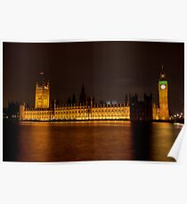 Palace of Westminster, London, UK Poster