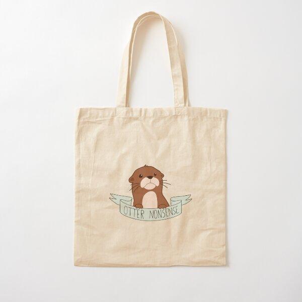 Otter Nonsense Cotton Tote Bag
