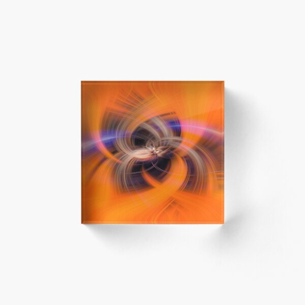 Maybe Orange wormholes exist Acrylic Block
