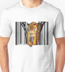 ENDANGERED TIGER BARCODE illustration print T-Shirt