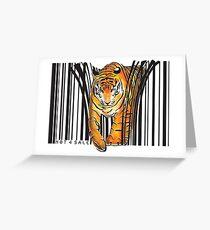 GEFAHRENER TIGER BARCODE Illustration drucken Grußkarte