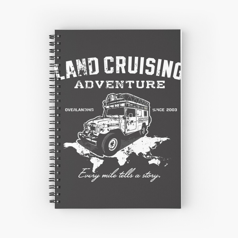 Every Mile Tells a Story - pure white Spiral Notebook