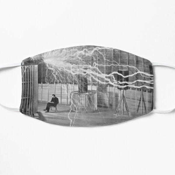 Tesla et ses bobines Masque sans plis
