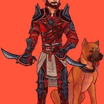 Dragon Age 2 Garret Hawke Rogue with Mabari  by lutnik